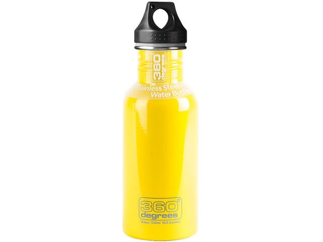 360° degrees Stainless Bidon 0.5 l, yellow